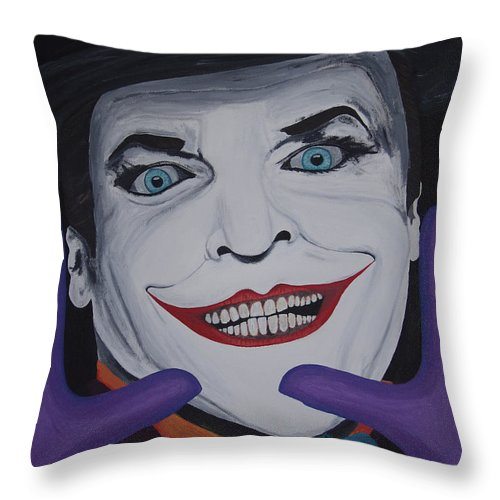 Colorful Throw Pillow featuring the painting Just Jack by Dean Stephens