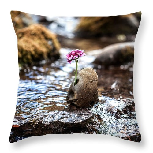 Flower Throw Pillow featuring the photograph Just Let Your Love Flow by Aaron Aldrich