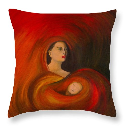 Verve Throw Pillow featuring the painting ..just Love.. by Fanny Diaz