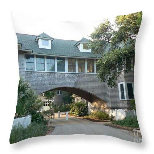 Bald Head Island Throw Pillow featuring the photograph Just Passing Through by Dona Dugay