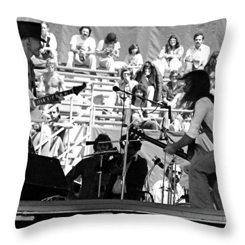 Johnny Winter Throw Pillow featuring the photograph Jwinter #11 Crop 2 by Ben Upham