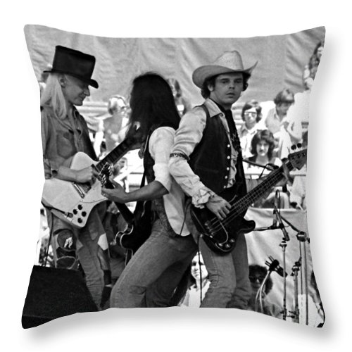 Johnny Winter Throw Pillow featuring the photograph Jwinter #17 Crop 2 by Ben Upham