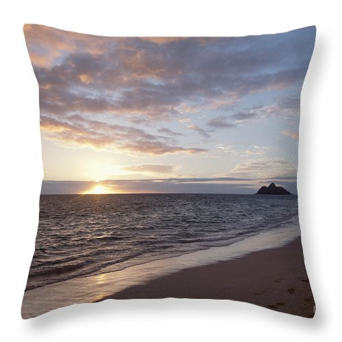 Amazing Throw Pillow featuring the photograph Kailua Sunset by Brandon Tabiolo