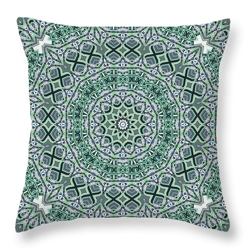 Kaleidoscope Throw Pillow featuring the digital art Kaleidoscope 31 by Ron Bissett