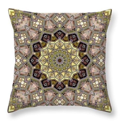 Kaleidoscope Throw Pillow featuring the digital art Kaleidoscope 50 by Ron Bissett