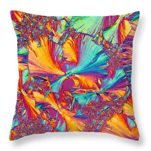 Crystals Throw Pillow featuring the photograph Kaleidoscope K by Hodges Jeffery