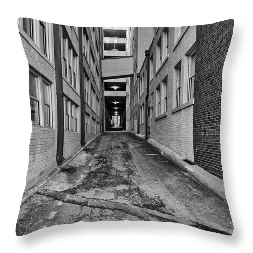 Kansas City Throw Pillow featuring the photograph Kansas City Alley by Kyle Howard