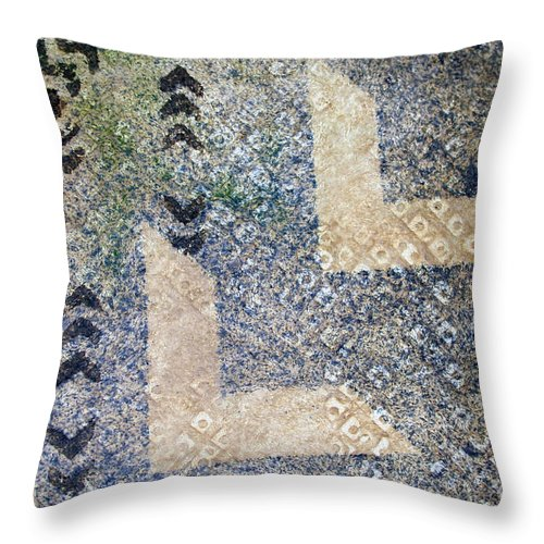 Abstract Throw Pillow featuring the tapestry - textile Kapalanui 3 by Dalani Tanahy