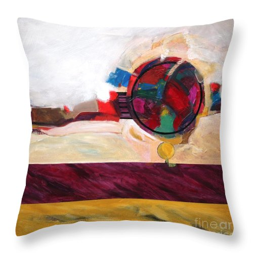 Abstract Throw Pillow featuring the painting Karma by Marlene Burns