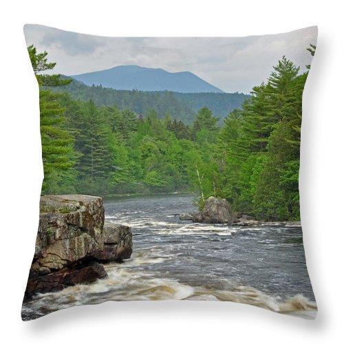 Crib Works Throw Pillow featuring the photograph Katahdin And Penobscot River by Glenn Gordon