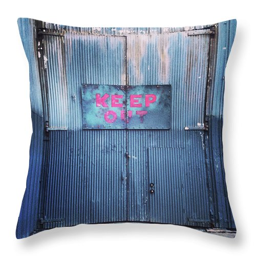 Tranquility Throw Pillow featuring the photograph Keep Out by Hal Bergman Photography