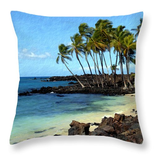 Hawaii Throw Pillow featuring the photograph Kekaha Kai II by Kurt Van Wagner