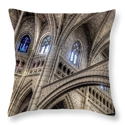 Ken Follet Throw Pillow featuring the photograph Ken Follets Cathedral No2 by Weston Westmoreland