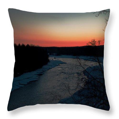 Alaska Throw Pillow featuring the photograph Kenai River Sunrise by Clint Pickarsky