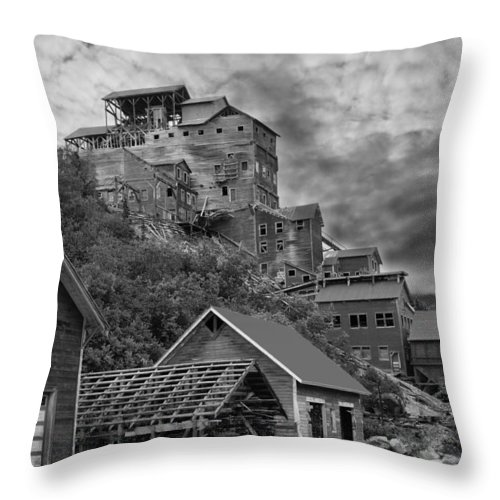 Mine Throw Pillow featuring the photograph Kennicott Mine by Tom Slater