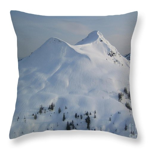 Mountain Throw Pillow featuring the photograph Ketchikan by Camilla Brattemark