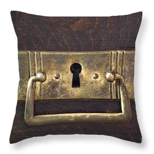Antique Throw Pillow featuring the photograph Key Hole by Michal Boubin