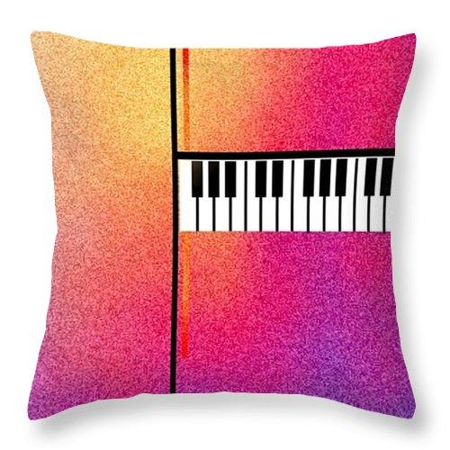 Keyboard Throw Pillow featuring the digital art Keyboard Abstract Grain by Boghrat Sadeghan