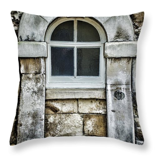 Window Throw Pillow featuring the photograph Keystone Window by Heather Applegate