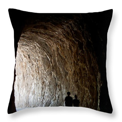Kid Throw Pillow featuring the photograph Kids In The Dark by Weston Westmoreland