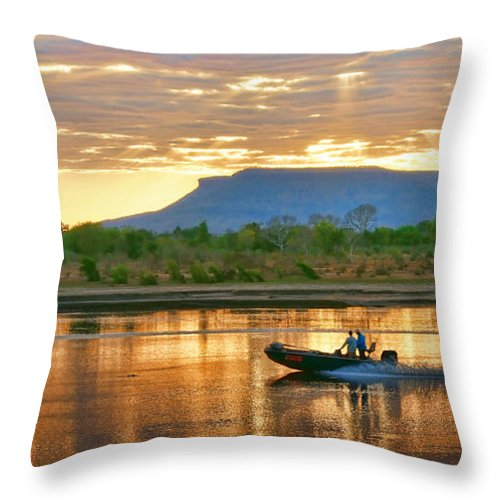 Landscapes Throw Pillow featuring the photograph Kimberley Dawning by Holly Kempe