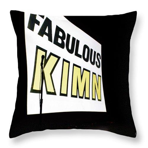 Kimn Throw Pillow featuring the photograph Kimn Radio Denver Colorado by Janice Pariza
