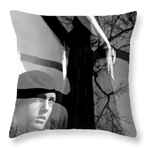 Mannequins Throw Pillow featuring the photograph Kindling by Diana Angstadt