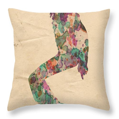 Michael Jackson Throw Pillow featuring the painting King Of Pop In Concert No 8 by Florian Rodarte