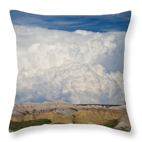 Landscape Throw Pillow featuring the photograph Kingdom Clouds by Christine Johnson