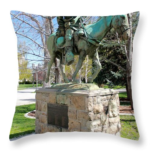 Kit Carson Throw Pillow featuring the photograph Kit Carson 2 by Eric Martin