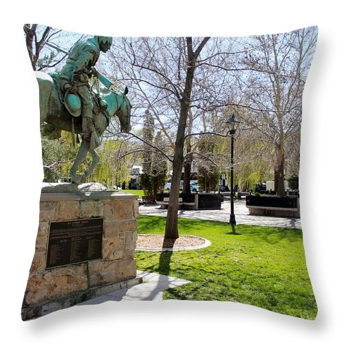 Kit Carson Throw Pillow featuring the photograph Kit Carson by Eric Martin