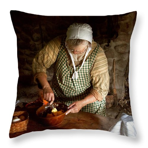 Chef Throw Pillow featuring the photograph Kitchen - Nothing Is Better Than Homemade by Mike Savad
