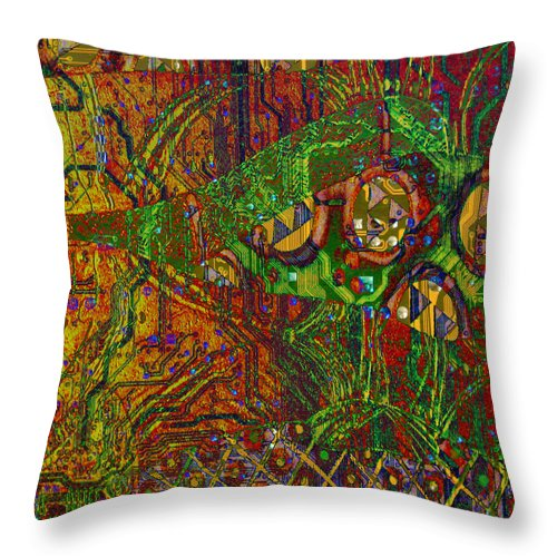 Digital Art Throw Pillow featuring the digital art Klimt Honor by Mary Clanahan