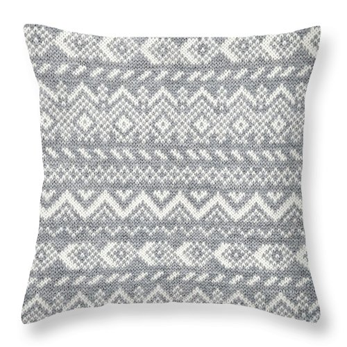 Knitted Throw Pillow featuring the photograph Knit pattern abstract by Elena Elisseeva