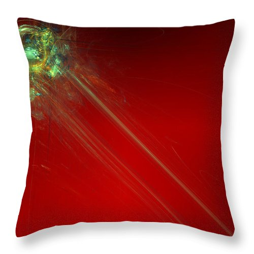 Abstract Throw Pillow featuring the digital art Know It All by Jeff Iverson