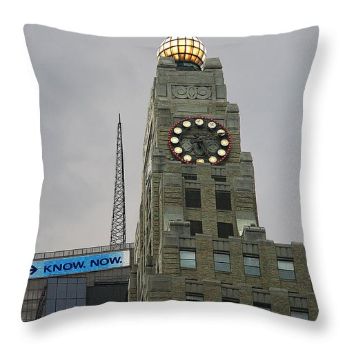 City Throw Pillow featuring the photograph Know Now by Andre Aleksis