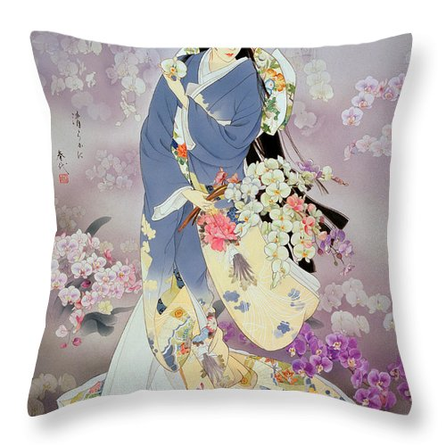 Adult Throw Pillow featuring the digital art Kochouran by MGL Meiklejohn Graphics Licensing