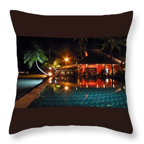 3scape Throw Pillow featuring the photograph Koh Samui Beach Resort by Adam Romanowicz