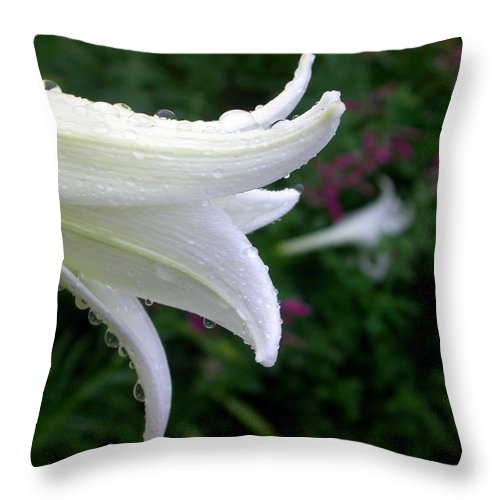 Throw Pillow featuring the photograph Korean Lily by Cynthia Wallentine