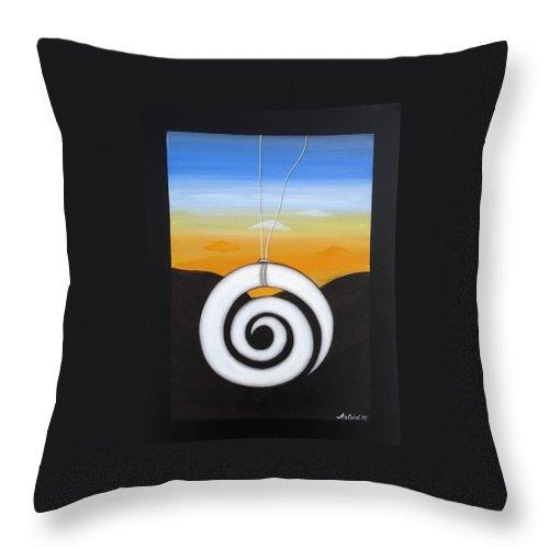 Koru Throw Pillow featuring the painting Koru by Astrid Rosemergy