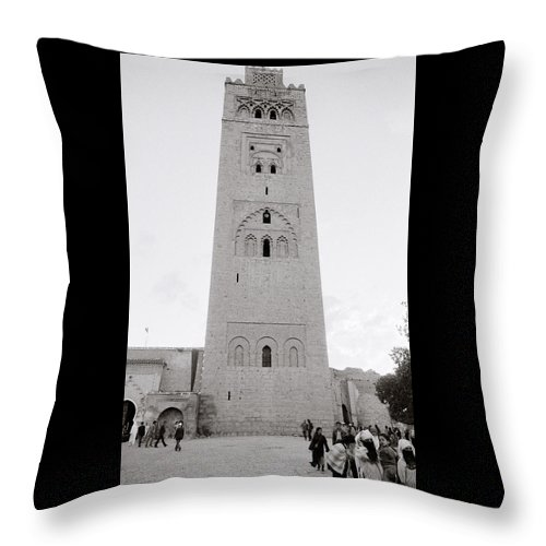 Architecture Throw Pillow featuring the photograph Koutoubia Mosque by Shaun Higson