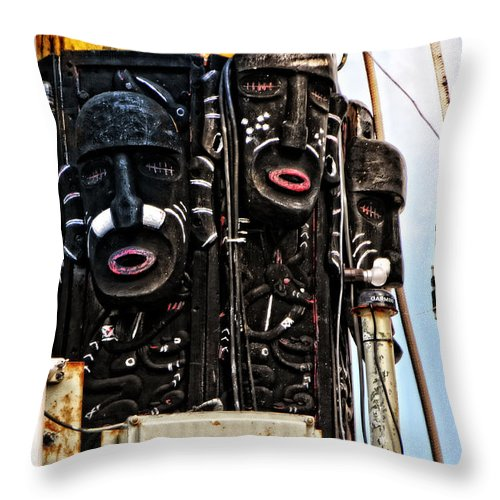 Seascape Throw Pillow featuring the photograph Kri Dewaruci Ops Sail 2012 by Mike Martin
