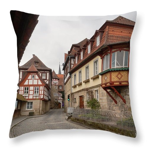 Europe Throw Pillow featuring the photograph Kronach Franconia 2 by Rudi Prott