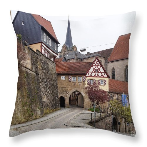 Europe Throw Pillow featuring the photograph Kronach Franconia 3 by Rudi Prott