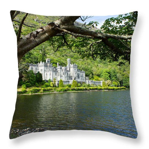 Kylemore Abbey Throw Pillow featuring the photograph Kylemore Abbey by Jeff Kantorowski