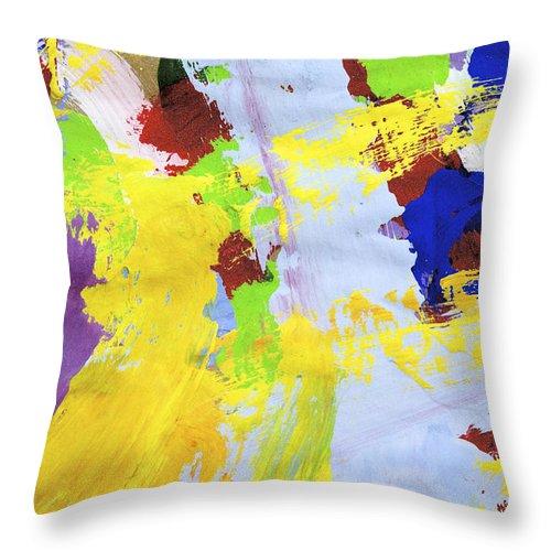 Water Paint Throw Pillow featuring the photograph L Blue by Richard J Cassato