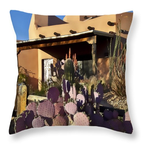 Tucson Throw Pillow featuring the photograph La Casa by Kathy Osmus