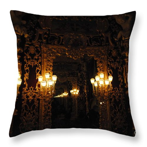 La Fenice Throw Pillow featuring the photograph la Fenice Elegance Restored by Jacqueline M Lewis