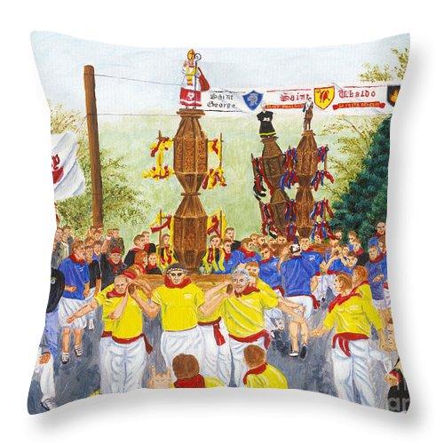 Jessup Throw Pillow featuring the painting La Festa Dei Ceri by Austin Burke
