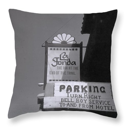 Throw Pillow featuring the photograph La Fonda by Cathy Anderson